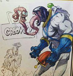 earthworm Jim and symbiote