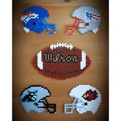 American football hama beads by perlienchen