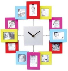Photo Frame Clock (Multi-Coloured) - Add 12 Photos - Great Personalised Gift by Thinkgizmos.com, http://www.amazon.co.uk/dp/B00ABLFK9Y/ref=cm_sw_r_pi_dp_O49Orb0TZJAEY