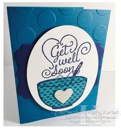 """This bright and cheery get well card was made with Stampin' Up's """"Get Well Soup"""" stamp."""
