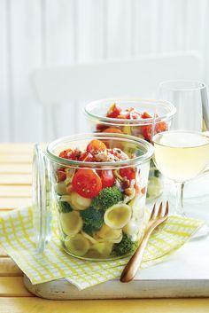 Salade de pâtes en pot #recette #TchinTchin