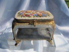 Antique Micro Mosaic jewelry casket,19th century