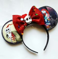 """The Nightmare Before Christmas"""" Sandy Claws Minnie Mouse Disney Ears"""