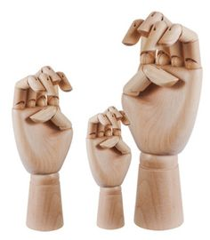 these would be so helpful sometimes. Wooden Hand, Dear Santa, Box Art, Decorative Accessories, Decor Styles, Sign Language, Human Body, Crib, Design