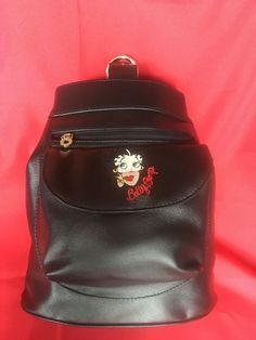 ddb40f2cdf Betty Boop Faux Leather Sling One Shoulder Backpack Purse  BettyBoop   Backpack One Shoulder Backpack