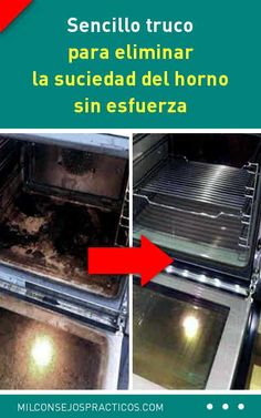 Sencillo truco para eliminar la suciedad del horno sin esfuerza. Tu horno va a lucir como nuevo Oven Cleaning Hacks, Self Cleaning Ovens, Cleaning Recipes, House Cleaning Tips, Clean Oven With Vinegar, Homemade Oven Cleaner, Clean Mama, Best Oven, Clean Grill