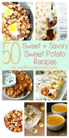 50 Sweet & Savory Sweet Potato Recipes on Real Housemoms