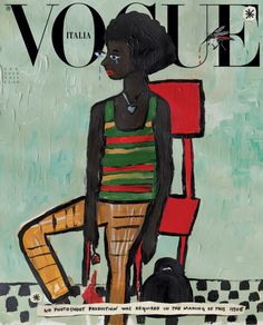 Vogue Italia Reduced Its Carbon Footprint by Hiring Artists to Illustrate Its January Issue Instead of Staging Elaborate Photo Shoots Manado, Vogue Covers, Vogue Paris, Kanye West, New York Times, John Currin, Vogue Magazin, Lindsey Wixson, Fashion Advertising