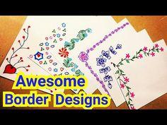 Bubble Wrap Painting Technique for Kids File Decoration Ideas, Page Decoration, Boarder Designs, Page Borders Design, Border Ideas, Front Page Design, Holiday Homework, Leaf Stencil, Hand Lettering Alphabet