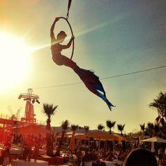 """@simonshenker's photo: """"Flying #Mermaid @ #OceanBeachIbiza"""""""