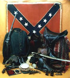 Cavalry accouterments from the Civil War Memorial Museum, New Orleans