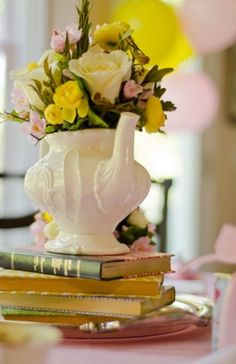 Tea Party KIt for 8 Guests: Have the party delivered to your doorstep! Kit includes 37-page party plan, decorations, place settings, favors and activities. $293