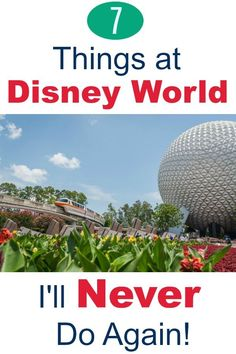 Walt Disney World vacation planning for families -- Things I'll never again at the Disney parks in Includes tips and tricks on shoes and clothes, Disney resorts, rides and attractions, and the snack credit food items I'll never order again. Disney On A Budget, Disney World Vacation Planning, Vacation Planner, Disney World Secrets, Disney World Outfits, Disney World Tips And Tricks, Walt Disney World Rides, Disney Parks, Gifts For Disney Lovers