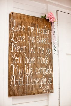 Easy & cute idea..just paint some words or a poem on an old piece of wood