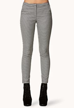 Houndstooth Trousers | FOREVER21 - 2000050570  #ForeverHoliday