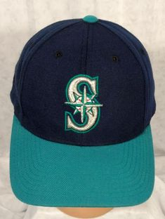 best loved 5d112 a7acb Puma Seattle Mariners Hat Cap Snapback Logo Athletic Adjustable Blue Teal   fashion  clothing
