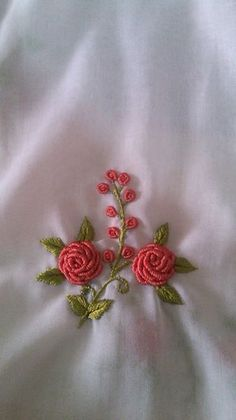 An Encyclopedia of Ribbon Embroidery Flowers: 121 Designs (American School of Needlework, No. Bullion Embroidery, Hand Embroidery Flowers, Embroidery On Clothes, Hand Work Embroidery, Learn Embroidery, Silk Ribbon Embroidery, Hand Embroidery Patterns, Embroidery Kits, Brazilian Embroidery Stitches