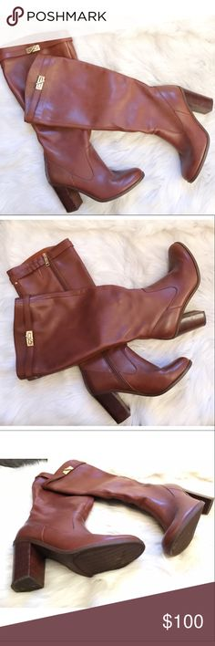 Tommy Hilfiger Riding Boots🎀 Riding boots with block heel. Tommy Hilfiger Shoes Over the Knee Boots