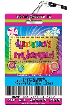 Wonka Birthday Invitations