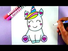 HOW TO DRAW A SUPER CUTE AND EASY UNICORN - YouTube