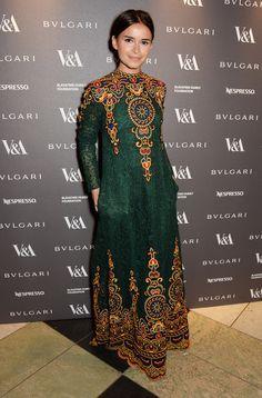 Miroslava Duma at the Victoria and Albert Museum's Glamour of Italian Fashion dinner.