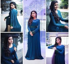 New wedding guest outfit blue bridal parties Ideas Indian Wedding Gowns, Indian Gowns Dresses, Indian Fashion Dresses, Dress Indian Style, Indian Designer Outfits, Designer Dresses, Designer Wear, Indian Outfits, Prom Dresses