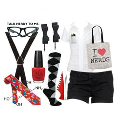 """""""Costumes: Nerd"""" by borderlineadorable on Polyvore"""