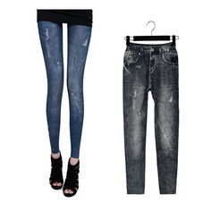 Women's Lady Jeggings Stretch Skinny Leggings Tights Pencil Pants Jeans