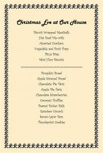 Printable Recipe and Menu Cards For Your Parties or Events