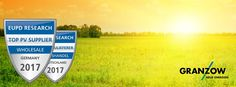 """Granzow als """"Top PV Zulieferer Deutschland"""" ausgezeichnet EuPD Research zeichnet Granzow mit """"Top PV Zulieferer"""" Siegel aus. In einer unabhängigen Installateursbefragung des Markt- und Wirtschaftsforschungsunternehmen EuPD Research bestätigen Installateure dem Großhändler Ernst Granzow GmbH & Co. KG sehr hohe Zufriedenheitswerte und eine […] Artikel lesen http://photovoltaik.granzow.de/granzow-als-top-pv-zulieferer-deutschland-ausgezeichnet/"""