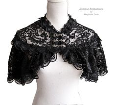 Capelet Noir, victorian, steampunk, historical, black lace Somnia Romantica by Marjolein Turin Viktorianischer Steampunk, Steampunk Costume, Steampunk Clothing, Steampunk Fashion, Steampunk Accessories, Victorian Steampunk, Victorian Fashion, Gothic Fashion, Gothic Mode
