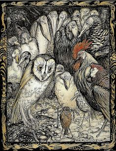 Arthur Rackham, The Owl and the Birds, 1912