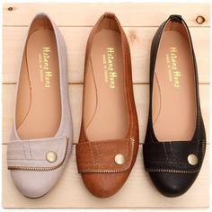 Bn Ladies Ballet Flats Ballerina Casual Comfy Cute Work Shoes Beige Black Brown
