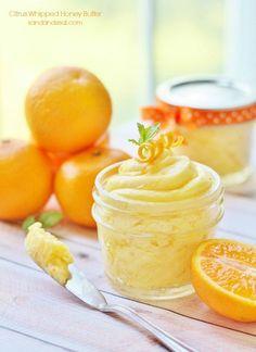 Citrus Whipped Honey Butter Jars + Free Printable + 106 Creative Birthday Gift Ideas! #birthdaygiftidea