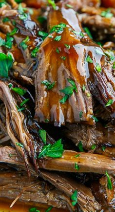 Slow Cooker Balsamic Glazed Roast Beef                                                                                                                                                                                 More