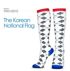 WKH-0010 : The Korean National Flag /  The Korean flag is called the Taegeukgi, is rich in philosophical symbolism.