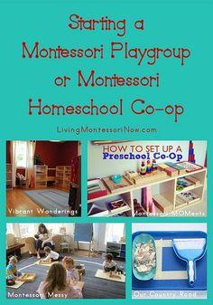 Starting a Montessori Playgroup or Montessori Homeschool Co-op Plus the Montessori Monday Link-up Collection Kaul Montessori Homeschool, Montessori Classroom, Montessori Toddler, Preschool Curriculum, Montessori Activities, Preschool Kindergarten, Preschool Learning, Montessori Theory, Classroom Ideas