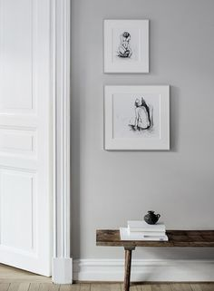 Hallway in black and white hues