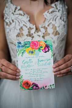 Yucatan Inspired Wedding Ideas - photo by Kristen Weaver Photography http://ruffledblog.com/yucatan-inspired-wedding-ideas | Ruffled