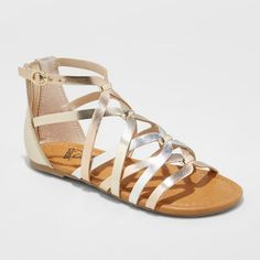 905fdcd2d1c Girls  Freya Metallic Gladiator Sandals - art class™