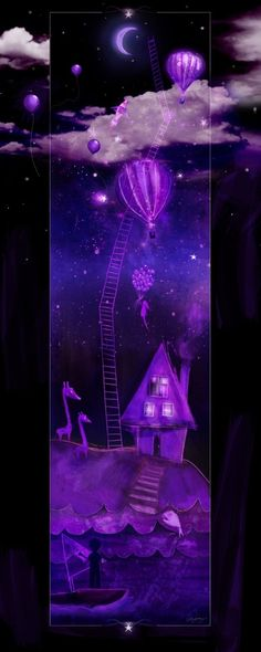 purple ladder to the stars by nellie