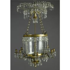 A Russian neoclassical ormolu and cut-glass eight-light chandelier  19th century