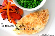 Last minute dinners! Pamesan-Crusted Baked Chicken! #healthy