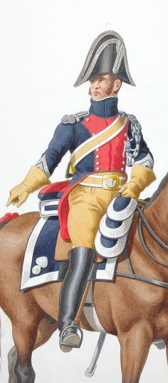 1819. Gendarmerie Royale des Départements. Maréchal des Logis.