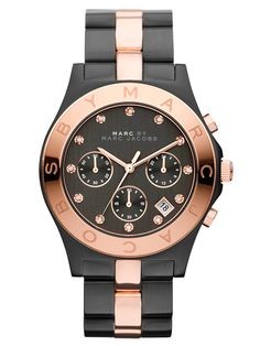 Women's Rose Gold & Black Watch by Marc by Marc Jacobs Watches at Gilt