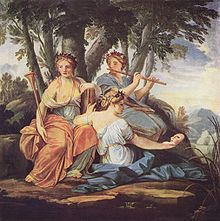 The Muses in Greek mythology are the goddesses of the inspiration of literature, science and the arts.