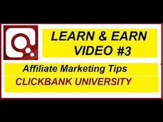 ClickBank University Buy Now Learn Earn, Affiliate Marketing, Buy Now, University, Learning, Youtube, Stuff To Buy, Life, Studying