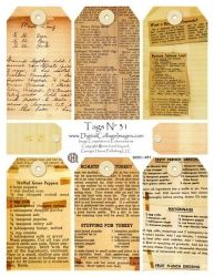 Vintage Recipe Tags!! This website is awesome!!!...and should come with a warning..you WILL want to spend lots of money here...