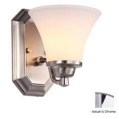 DVI Valletta 6.25-in W 1-Light Chrome Arm Hardwired Wall Sconce