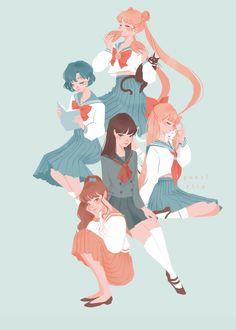sailor moon usagi tsukino luna ami mizuno rei hino kino makoto minako ainoartemis